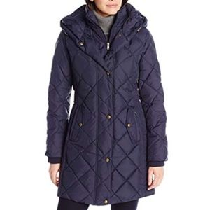 Larry Levine down feather Diamond-Quilted coat